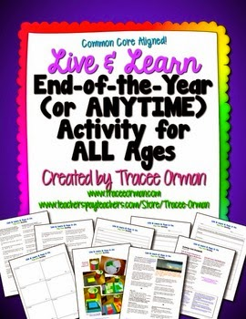http://www.teacherspayteachers.com/Product/Live-Learn-Life-Lessons-Class-Activity-Anytime-or-End-of-the-Year-83645